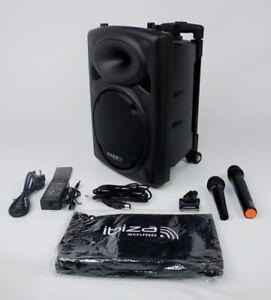 Ibiza  Beschallungsanlage Lautsprecherbox Musik Bluetooth USB Kabelmikrofon Vox