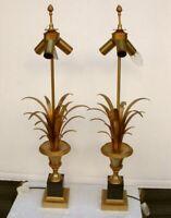 1970 Paire de Lampes aux Roseaux  DLG  Charles