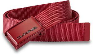 "New Dakine Men's Rail Belt O/S (Adjustable up to 40"") Deep Red"