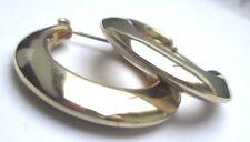 Bijou Vintage boucles d'oreilles percées anneaux rétro couleur or poli  1890
