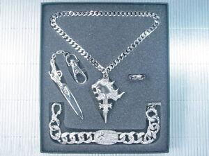 Final Fantasy VIII 8 FF8 Keychain Ring Necklace Bracelet PG Set