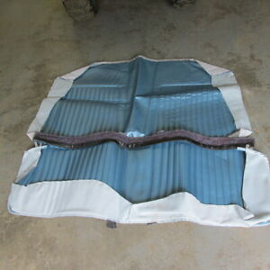 1967 CHEVROLET CAMARO RS SS Z28 NEW PUI LIGHT BLUE COUPE REAR SEAT COVER