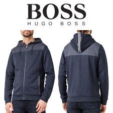 """Logotipo de Hugo Boss SAGGY Curvo Cremallera """"Con Capucha Sudadera"""