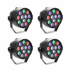4 Pack LED Stage Par Light RGBW DMX512 12W DJ Up Party KTV Uplighting Wall Wash