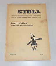 Teilekatalog Stoll Juwel-Dreipunkt-Gerätetreihe Stand 1961