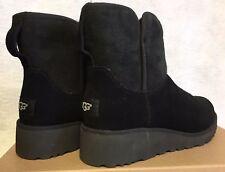 Ugg Australia Kristin 1012497 Women's Black Chestnut Grey Sheepskin Wedge Boots