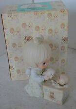 Precious Moments Porcelain Figure 1988 Always Room For One More With Box