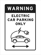 Electric Car Charging Parking Only Sign Vehicle Black Graphic Reserved EV Space