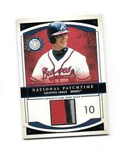 2003 Fleer Patchworks National Patchtime Chipper Jones Jersey Card (B17) Braves