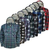 Mens Padded Thick Fleece Lined Sherpa Fur Check Shirt Winter Lumberjack Work