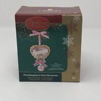 New Carlton Cards Heirloom Christmas Ornament Granddaughter's 1st Christmas 2005