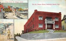 THE ST. EDGAR HOTEL Redondo Beach, CA Santa Monica Bay 1914 Vintage Postcard
