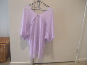 WITCHERY STUNNING NEW NWOT LILAC DRAPING KAFTAN TUNIC TOP 8 SO PRETTY! COVERALL