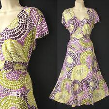 Occasion dress size 18 ladies summer 40s style tea dress -Alex & Co