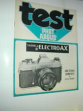 TEST PHOT ARGUS  yashica electro AX en francais photo photographie