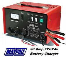 Maypole Heavy Duty Steel 30 Amp 12v/24v Car Van Tractor Battery Charger #MP750