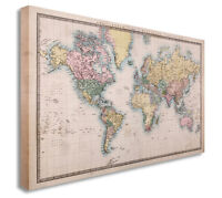 Ikea premiar world map canvas ebay vintage world map countries style wall picture prints canvas art cheap gumiabroncs