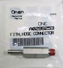 Onan Genuine Factory Fuel Filter Line Adapter A029S253 HGJAB HGJAA HGJAC