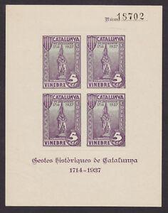 Spain Galvez 769 MNH. 1937 5c Vinebre local rouletted
