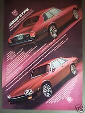 Jaguar S-Type XJ-S Classic red car vintage 1977 AD