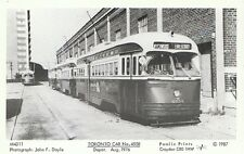 Transport Postcard - Toronto Car No.4558 - Depot Aug.1976 H624