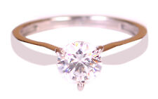 14KT White Gold With D/VVS1 Round Shape 1.60Ct Solitaire Women's Engagement Ring