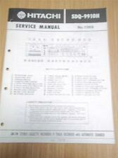 Hitachi Service Manual~SDQ-9910H Stereo/Receiver/8-Track Music System~Original