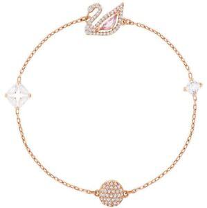 Swarovski 5472271 Dazzling Swan Rose Gold Plate Bracelet 18cm RRP$149