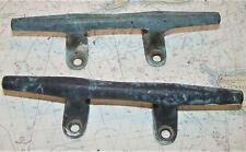 "Pair Antique Bronze Herreshoff Style Cleat 8"""