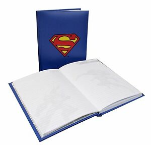 New Superman Illuminating Logo Hardback Notebook Christmas Birthday Gift Present