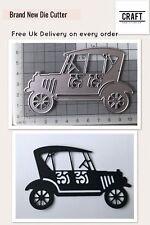 Coche de boda DIE Cutter-Craft/Boda/elaboración de tarjetas (craftaddictionuk)