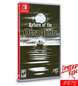 Return of The Obra Dinn Nintendo Switch Limited Run Games #078 LRG New Sealed