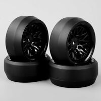 4x RC Drift Wheel Rim W/ Tires 12mm Hex BBNK For HSP HPI 1:10 On-Road Racing Car