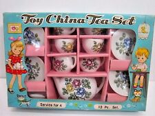 VINTAGE 1960'S TOY CHINA TEA SET SERVICE FOR 4 13 PIECE SET MADE IN JAPAN