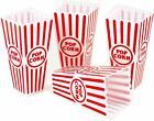 8pc Plastic Popcorn Containers Retro striped Style Movie Theater Carnival  Bowl