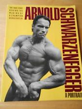 ARNOLD SCHWARZENEGGER bodybuilder muscle posing photo book A PORTRAIT (SC)