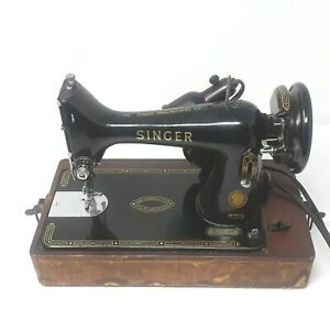 Singer Sewing Machine Vintage 1955 Model 99K w/Case & Pedal EK616411 Made in UK