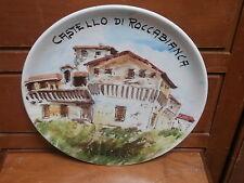 """Piatto ceramica Parma Noceto """" Castello di Roccabianca """" dipinto a mano"""