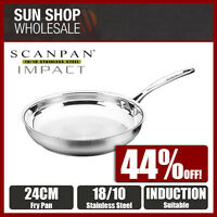 100% Genuine! SCANPAN Impact 18/10 Stainless Steel 24cm Frypan! RRP $92.95!
