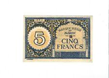 Morocco - 1943, Five (5) Francs