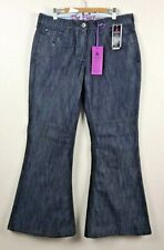 "Next Petite Womens Flare Jeans Blue Wash Size 12 BNWT NEW 28"" Leg 32"" W (REF34)"