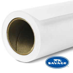 """Savage Seamless Background Paper #01-12 Super White 107""""x 12yds LOCAL PICKUP"""