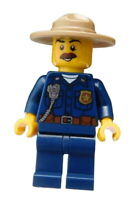 Lego Polizeichef Berg Polizei Chef Minifigur Figur Mann Legofigur cty0870 Neu