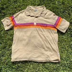 Vintage Hobie Short Sleeve Polo Shirt Men's Size XL Made in USA