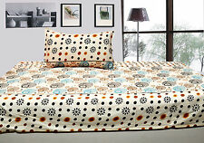 100% cotton single bed sheet with 1 pillow covers - base border single