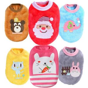 Dog Clothes PJs Outfit Sweater for Cat Shih Tzu Puppy Yorkie Xmas Size XXXS XXS
