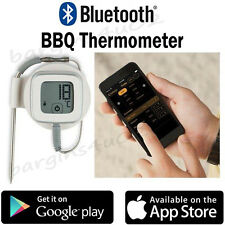 Bluetooth Wireless Meat Thermometer BBQ Cooking Grill Oven Roasting App Driven