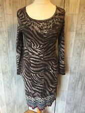 Oui Moments Stretch Animal Print Dress 12/40