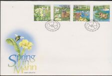 GB - ISLE of MAN 1997 Spring in Mann SG 730-733 FDC FLOWERS DUCKS FROGS GOATS