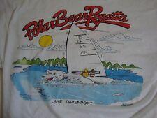Vintage Polar Bear Regatta Lake Davenport Paper Thin White T Shirt Size M